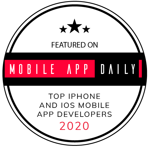 award featured on mobile app daily top iphone and ios mobile app developers 2020