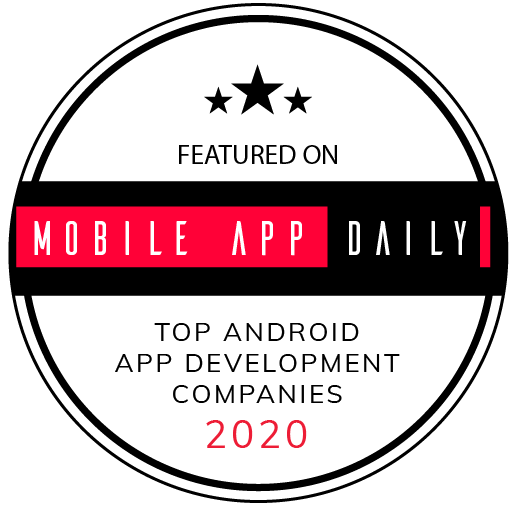 award featured on mobile app daily top android app development companies 2020