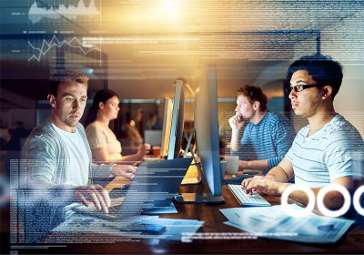 Developers work on DevOps for retail enterprise