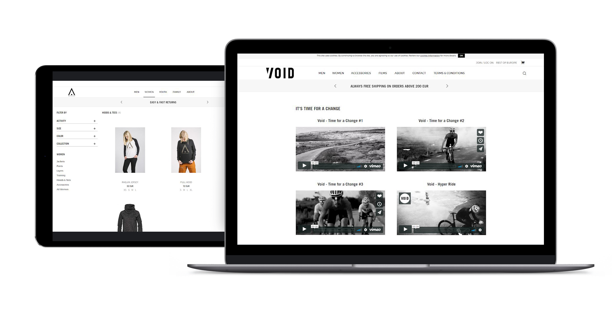 Success story -  e-Commerce websites for clothing brand