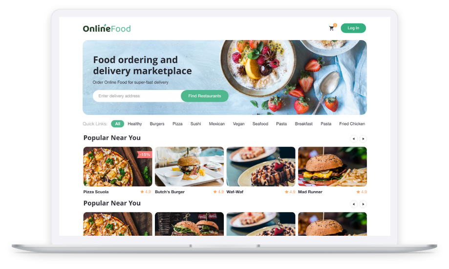 Service For Ordering Food Online