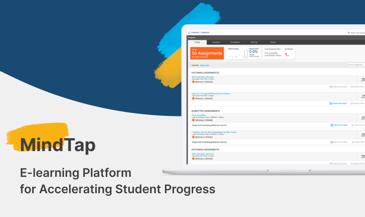 MindTap – E-learning Platform For Accelerating Student Progress
