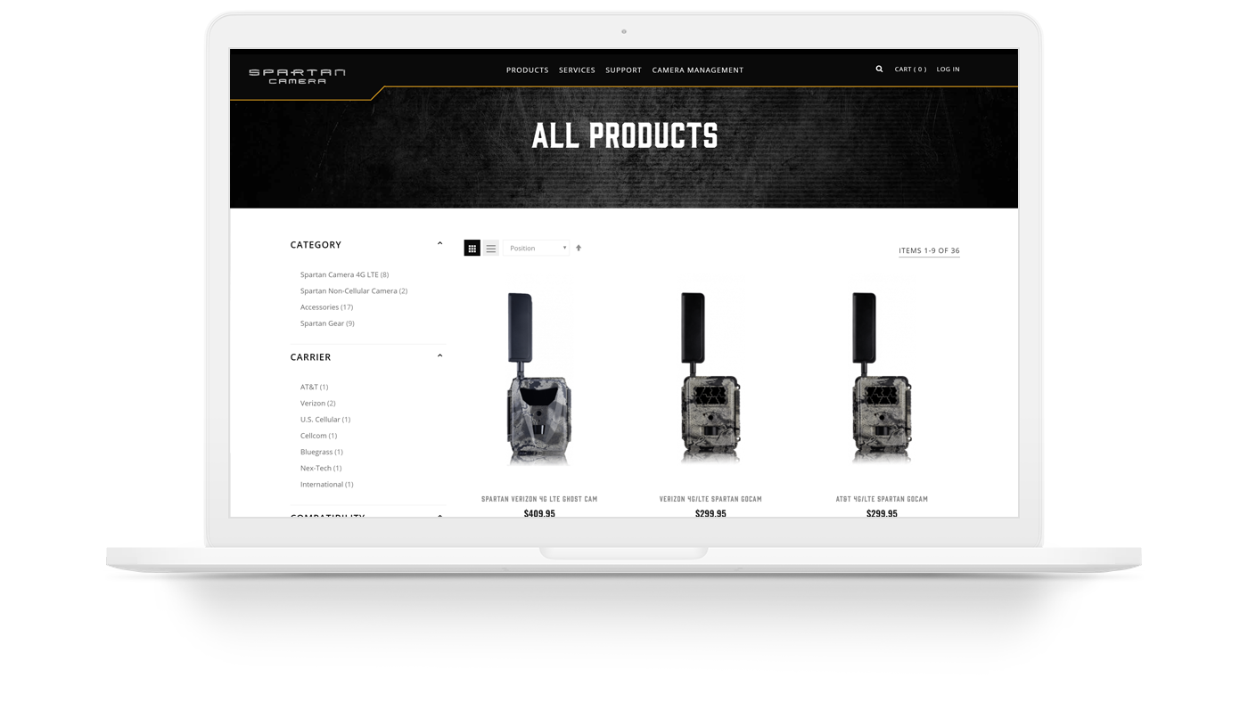 Spartan Camera - E-Commerce Website for Wildlife Research