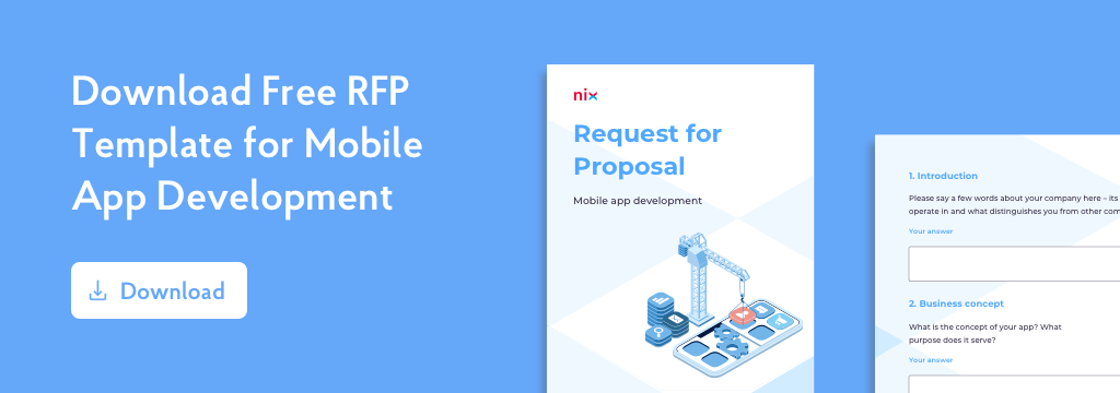 RFP Template For App Development