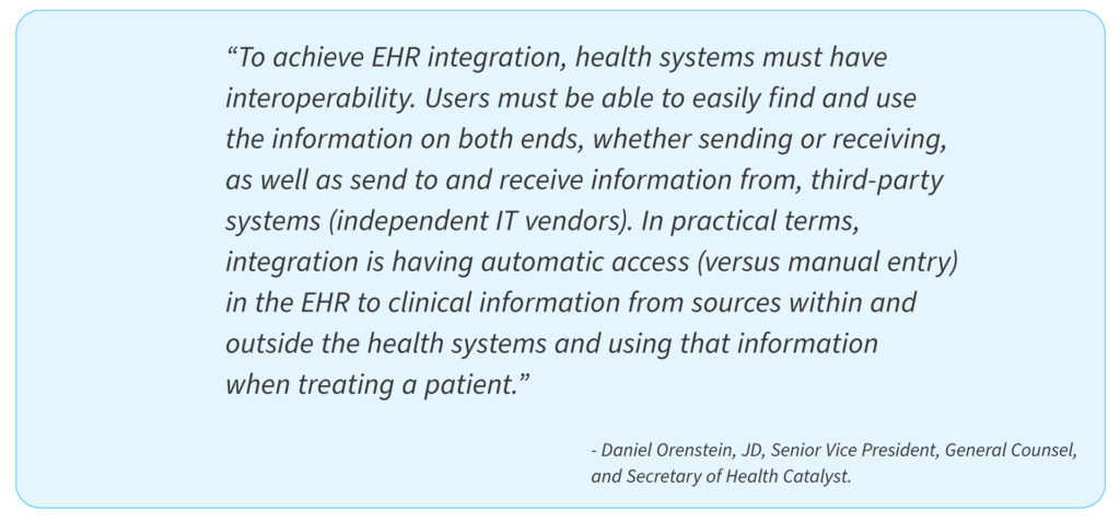 EHR adoption: connectivity, interoperability — musthave