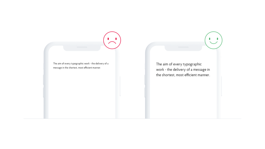 Readability is a key in mobile app design