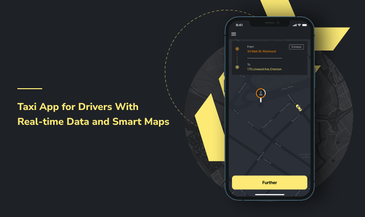 Taxi App for Drivers With Real-time Data and Smart Maps